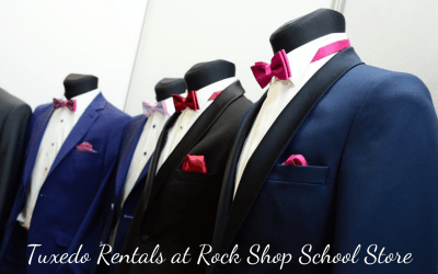 Tuxedo Rentals in Rock Shop School Store