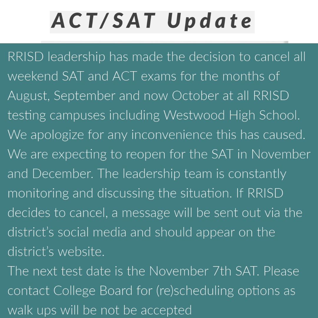 ACT/SAT Update
