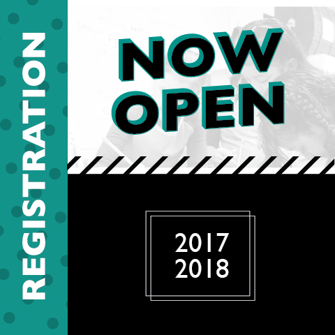 Registration Now Open for 2017-2018