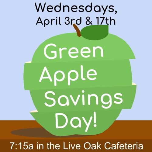 Green Apple Savings Days