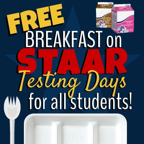 Free Breakfast for Students on STAAR Testing Days