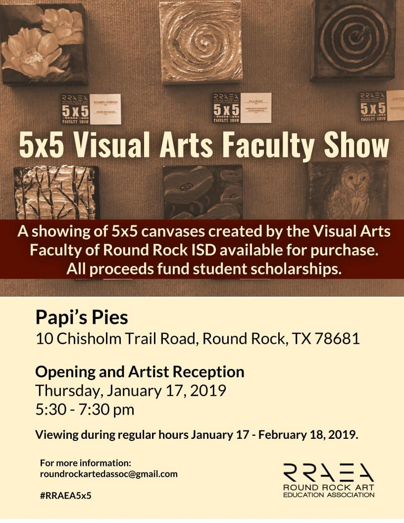 Faculty Show with RRAEA benefits scholarships