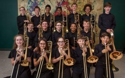 Walsh Trombone Choir Performs