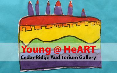 Young @ HeART opens at Cedar Ridge Auditorium Gallery