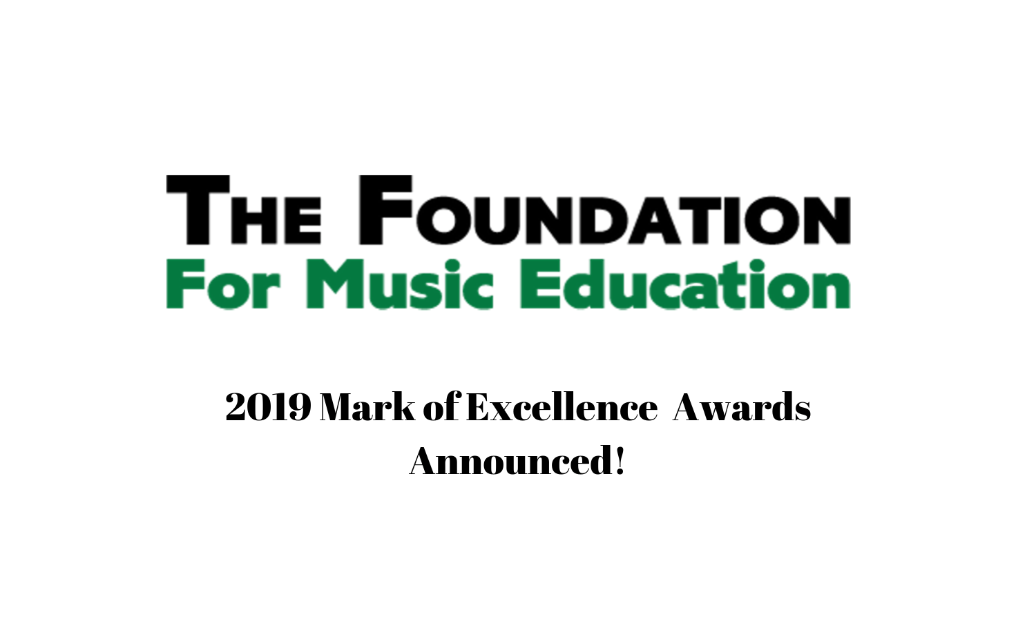 2019 Mark of Excellence Winners Announced!
