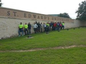 AVID students at St. Edwards University