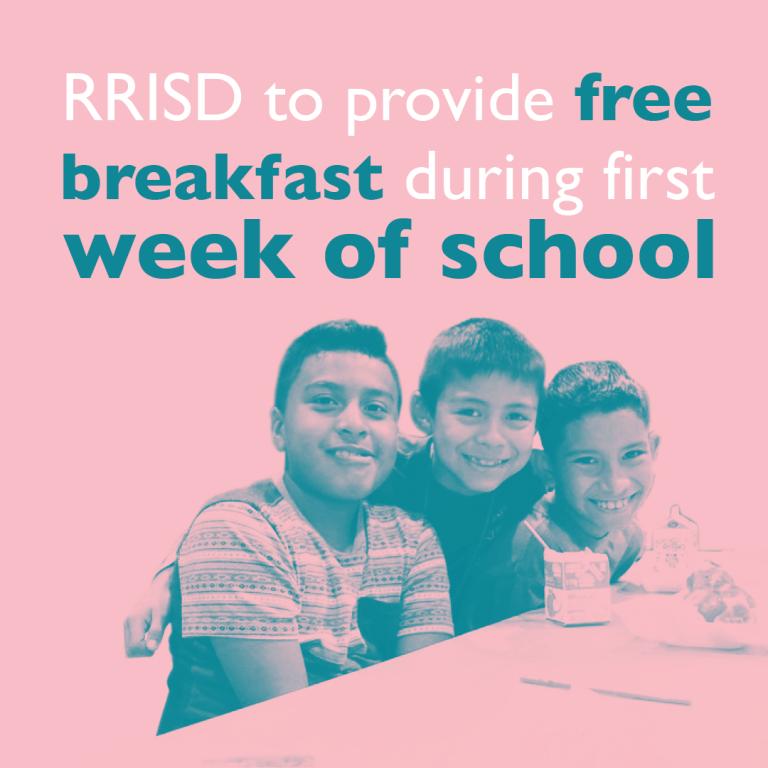 RRISD to provide free breakfast during first week of school