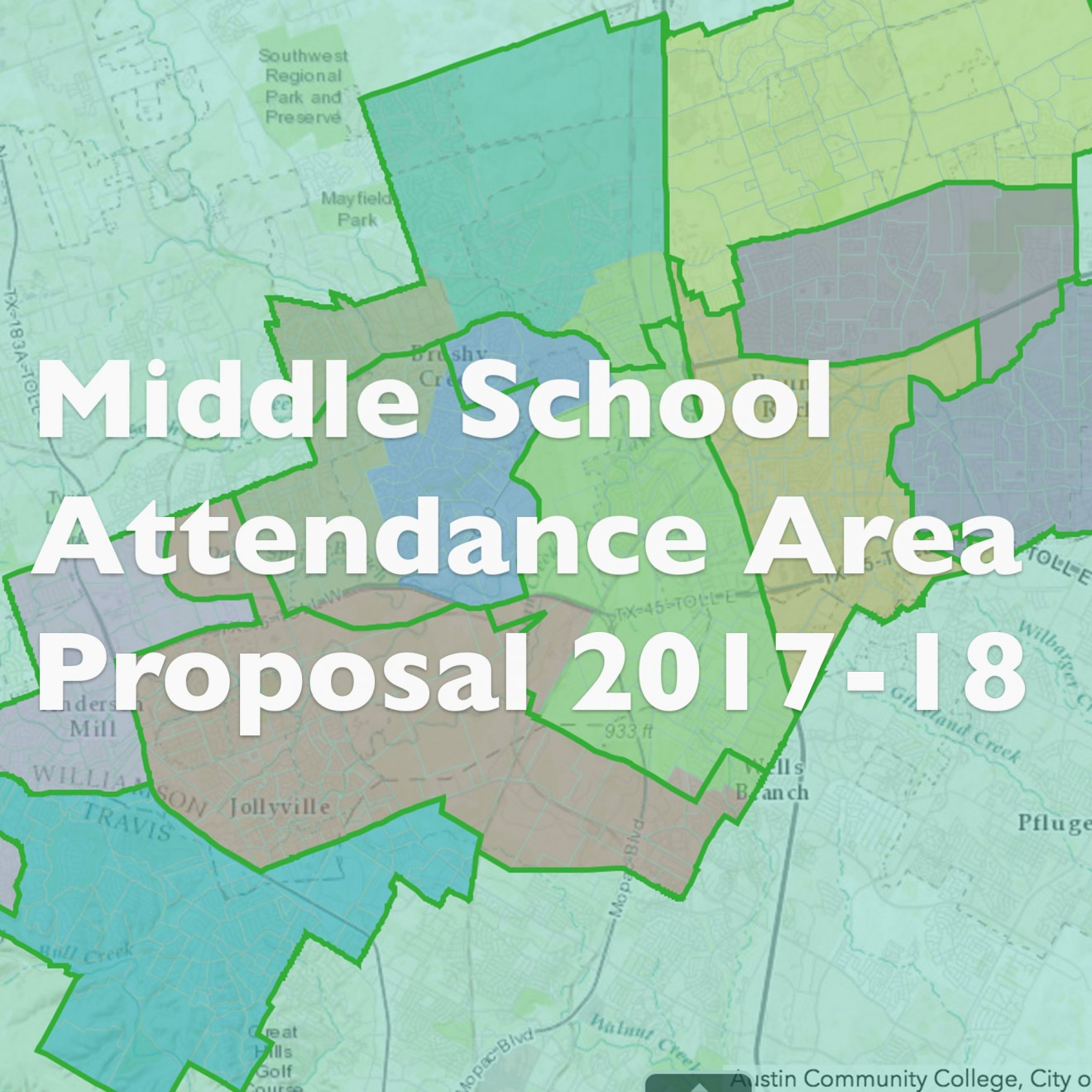 Middle School Attendance Area Change 2017-2018 School Year