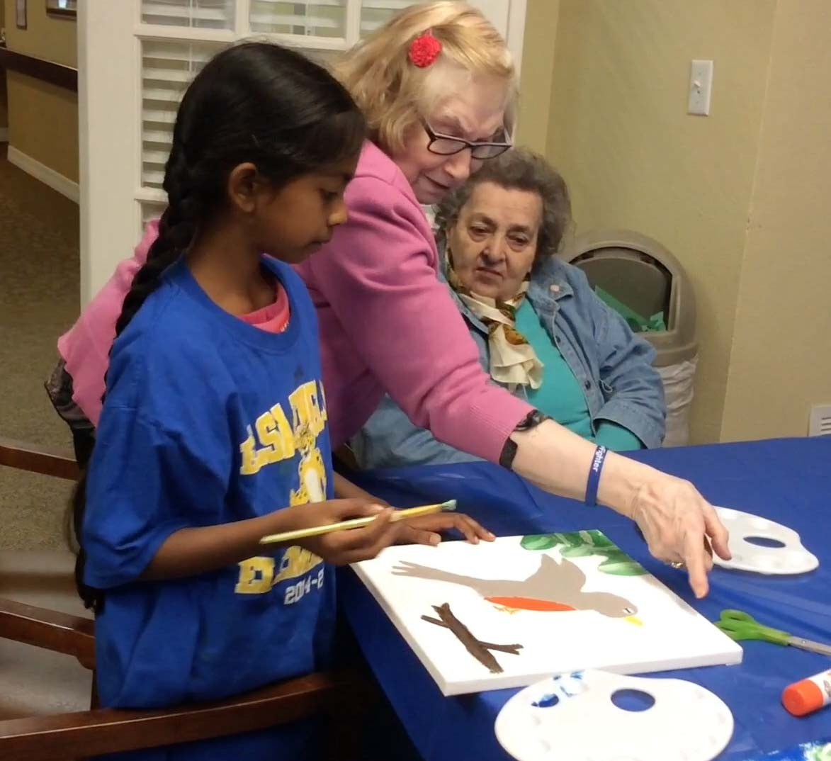 England Ageless Art program teaches students and elderly alike