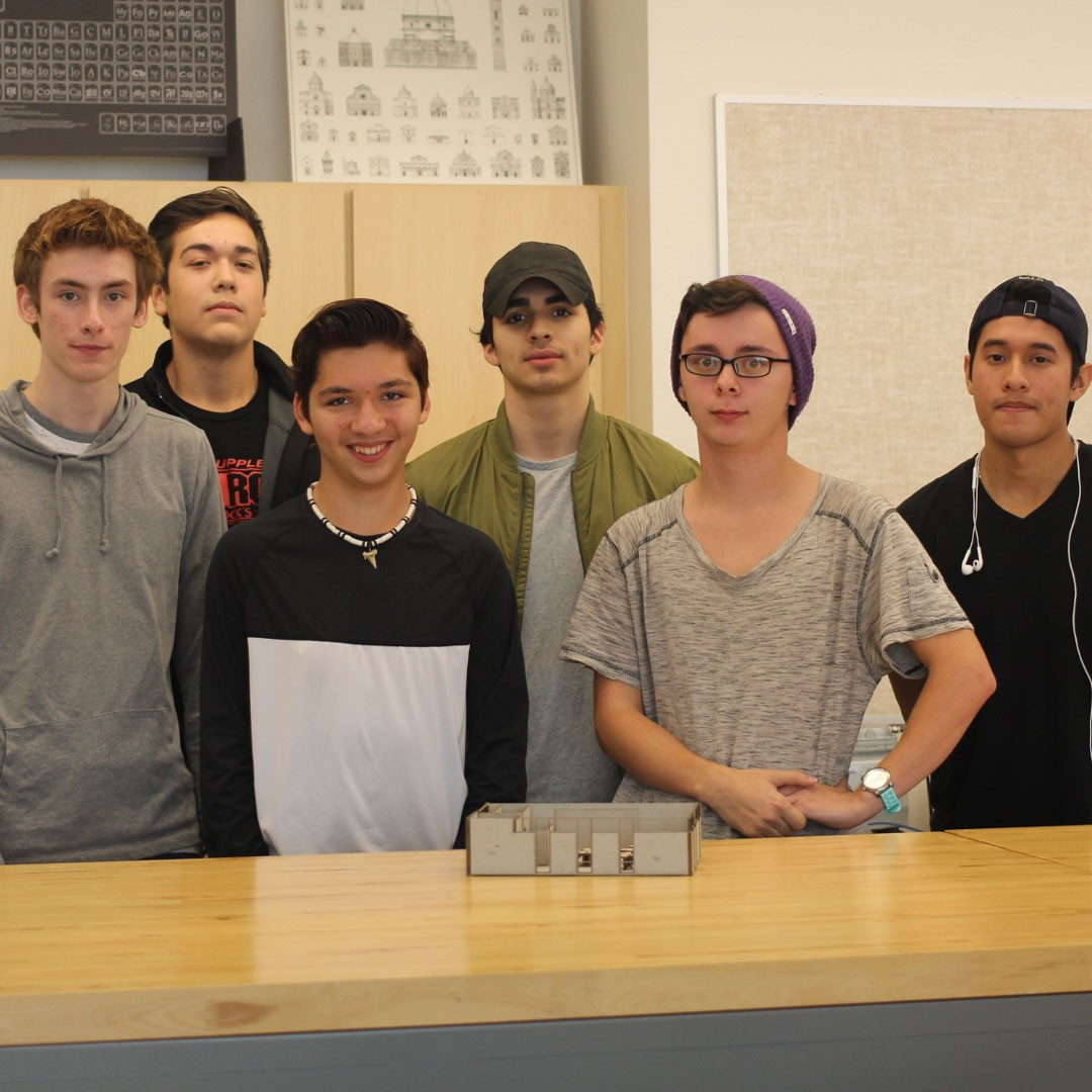 Cedar Ridge architecture students design RRISD professional development classroom