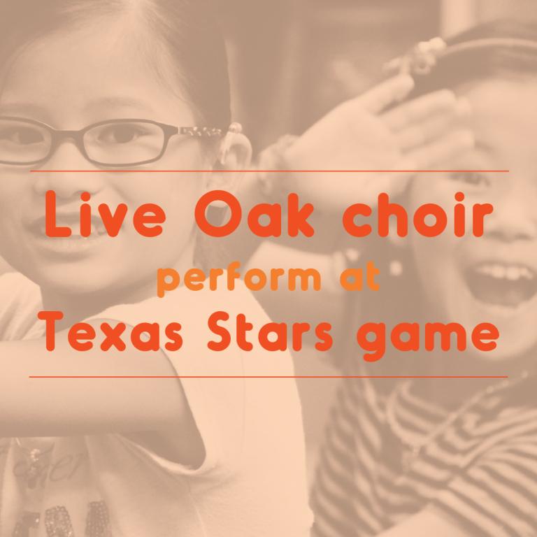Live Oak choir sing, sign at Texas Stars game