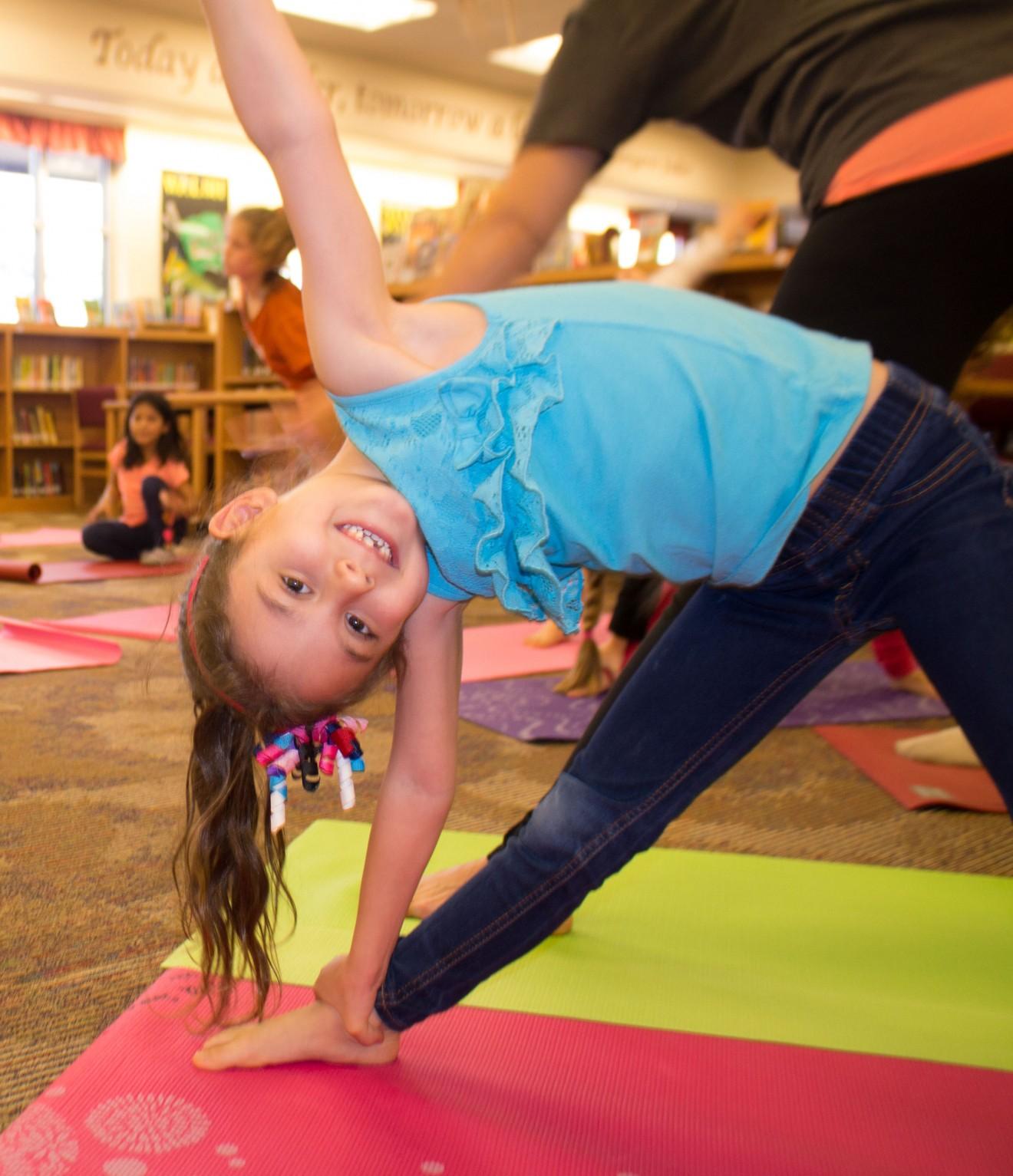 Chandler Oaks students enjoy yoga book club after school