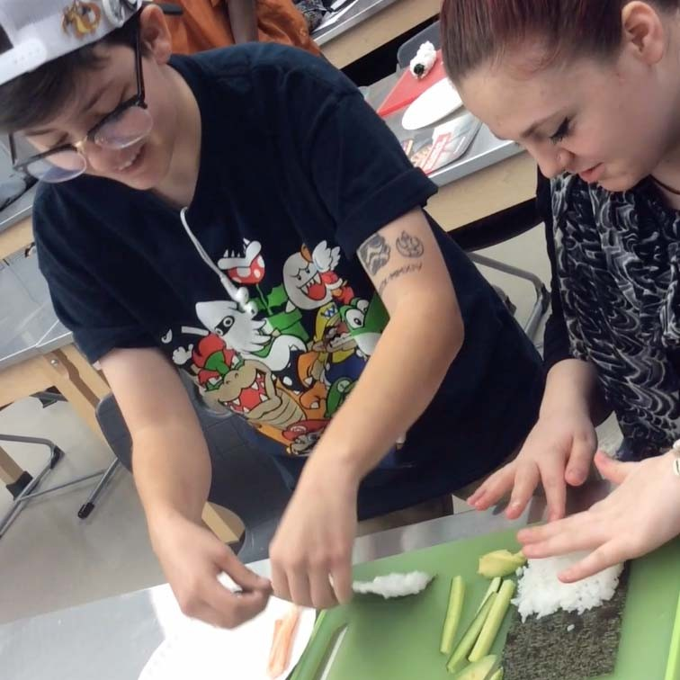VIDEO: Success students gain culinary skills from career demo
