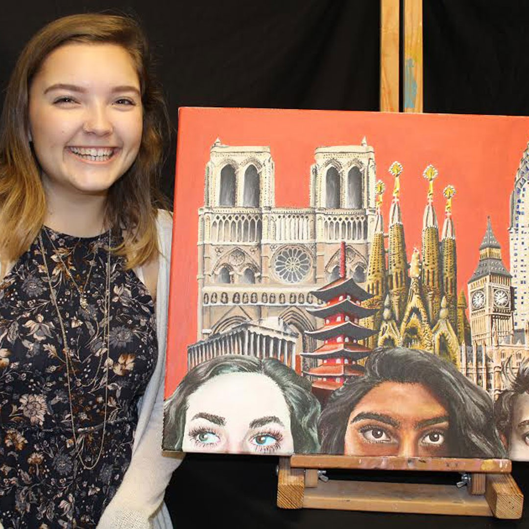 Westwood artist selected to showcase work on I-35 billboard for Youth Art Month