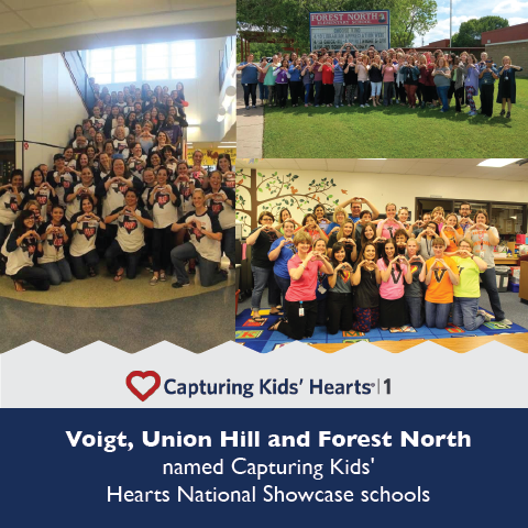 Voigt, Union Hill and Forest North named Capturing Kids' Hearts National Showcase schools