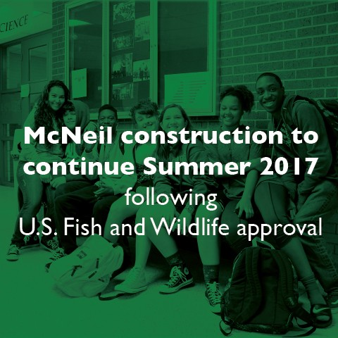 McNeil construction to continue following environmental approval