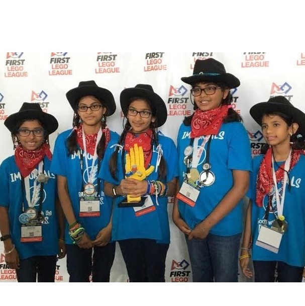 Spicewood FLL team wins Research Award at World Championship