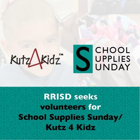 RRISD seeks volunteers for School Supplies Sunday/Kutz 4 Kidz
