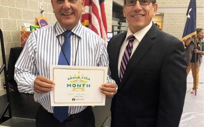 Perez named Superintendent's RRock Star for October