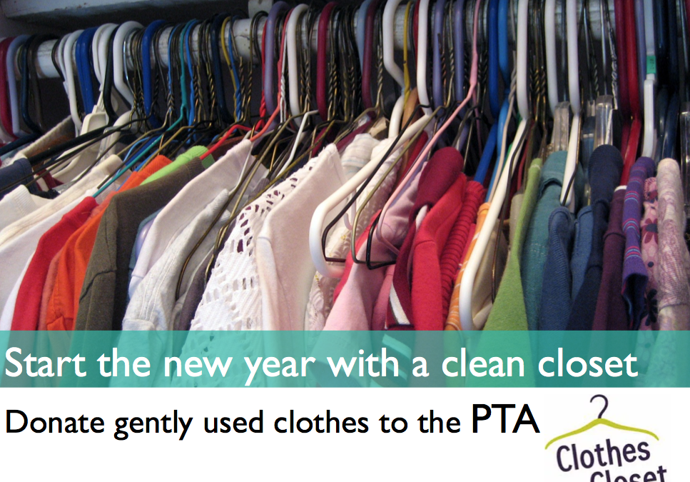 Start the New Year with a Clean Closet, Donate to PTA Clothes Closet