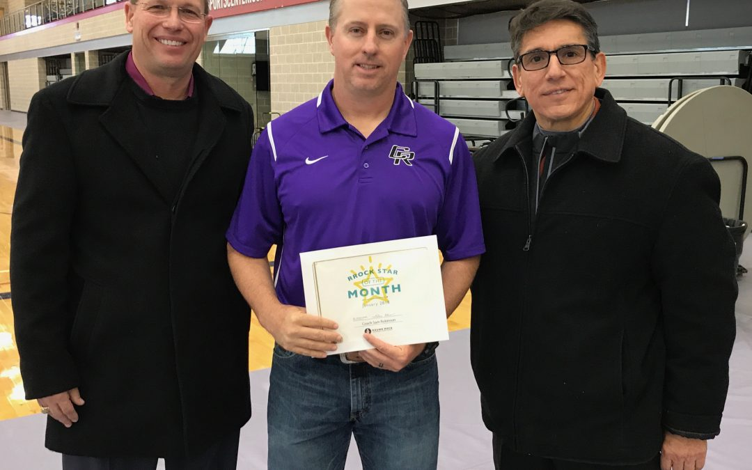 Coach Robinson named Superintendent's RRock Star for January