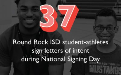 37 Round Rock ISD student-athletes sign letters of intent during National Signing Day