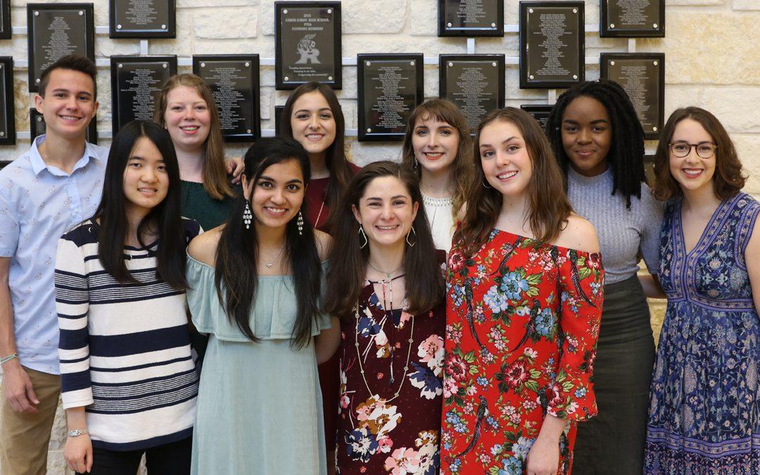 Cedar Ridge High School 2018 Top Ten