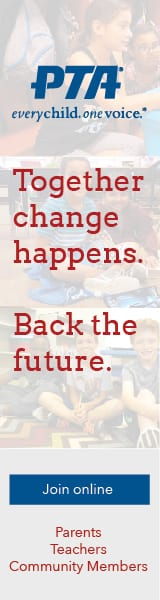 Together change happens. Back the future. Join online. Parents. Teachers. Community members.