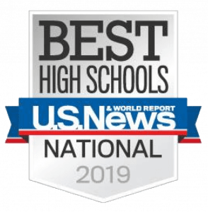 Award logo - best high schools - u.s. news - national 2019
