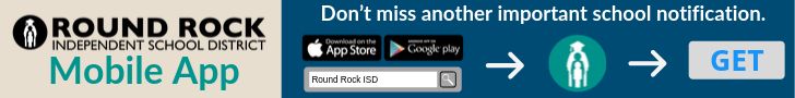 Round Rock ISD Mobile App. Don't miss another important school notification. Click banner for more info.. Button