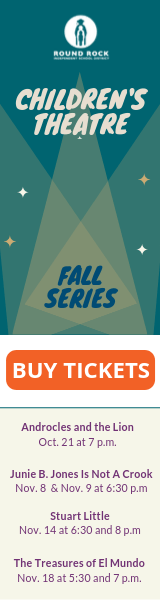 Children's Theatre Fall Series. Buy tickets button. Androcles and the lion, Junie B. Jones is not a crook, Stuart Little, The Treasures of El Mundo.