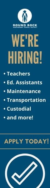 We're hiring! Teachers, custodians, educational assistants, maintenance and more. Apply today button.