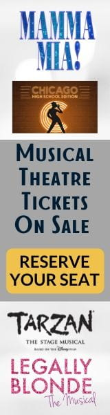 Musical theatre tickets on sale. Reserve your seat for Mamma Mia!, Chicago, Legally Blonde and Tarzan.