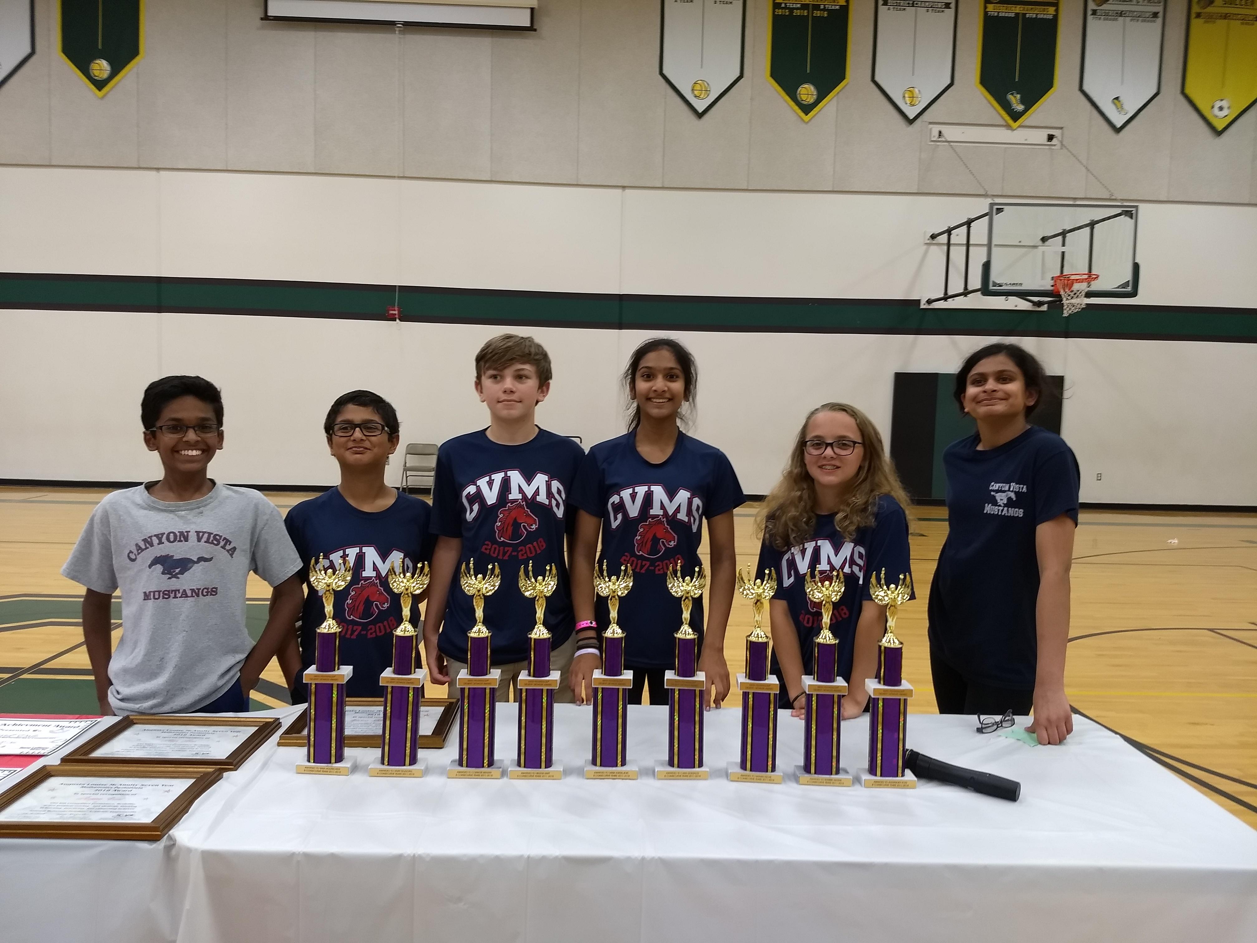 CVMS Success at Math Pentathlon Tournament