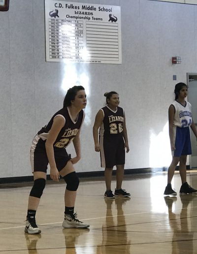 8th grade girls BB