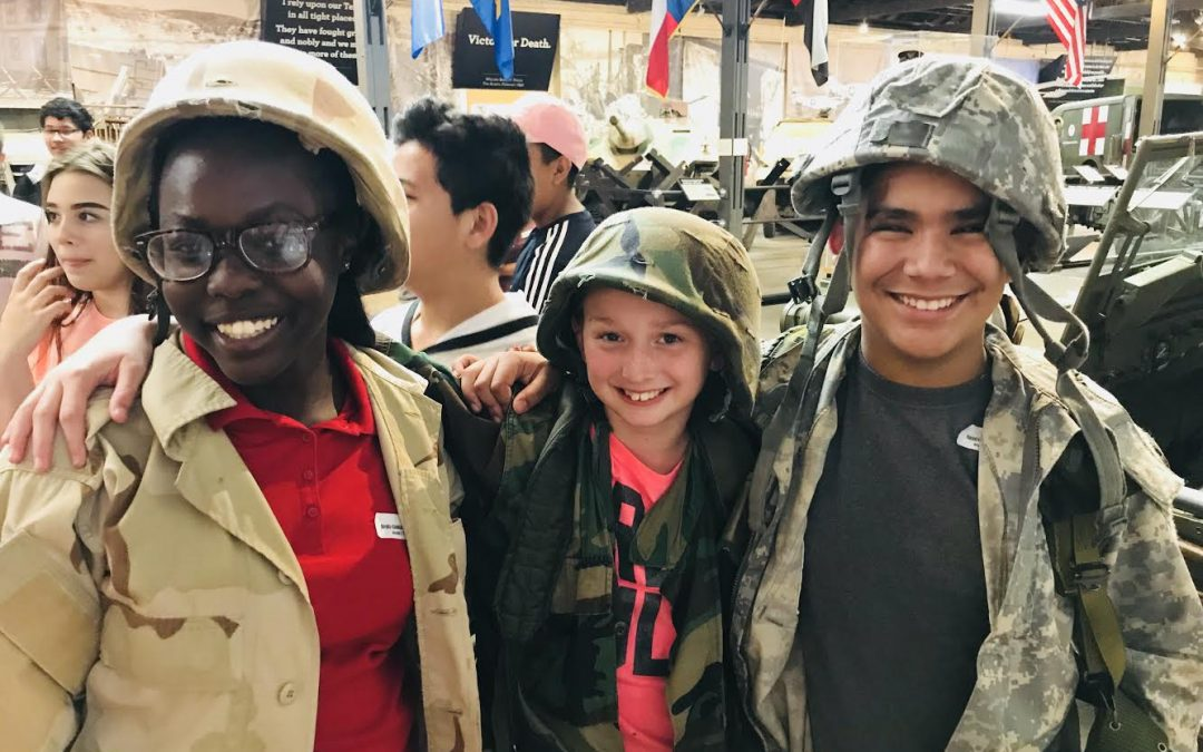 7th grade field trip to Camp Mabry