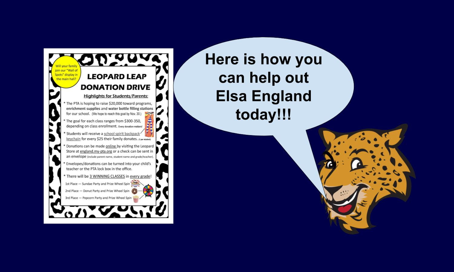 The Leopard Leap Donation Drive is Happening Now!