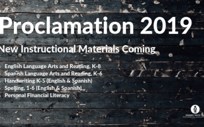 New Instructional Materials Coming in 2019