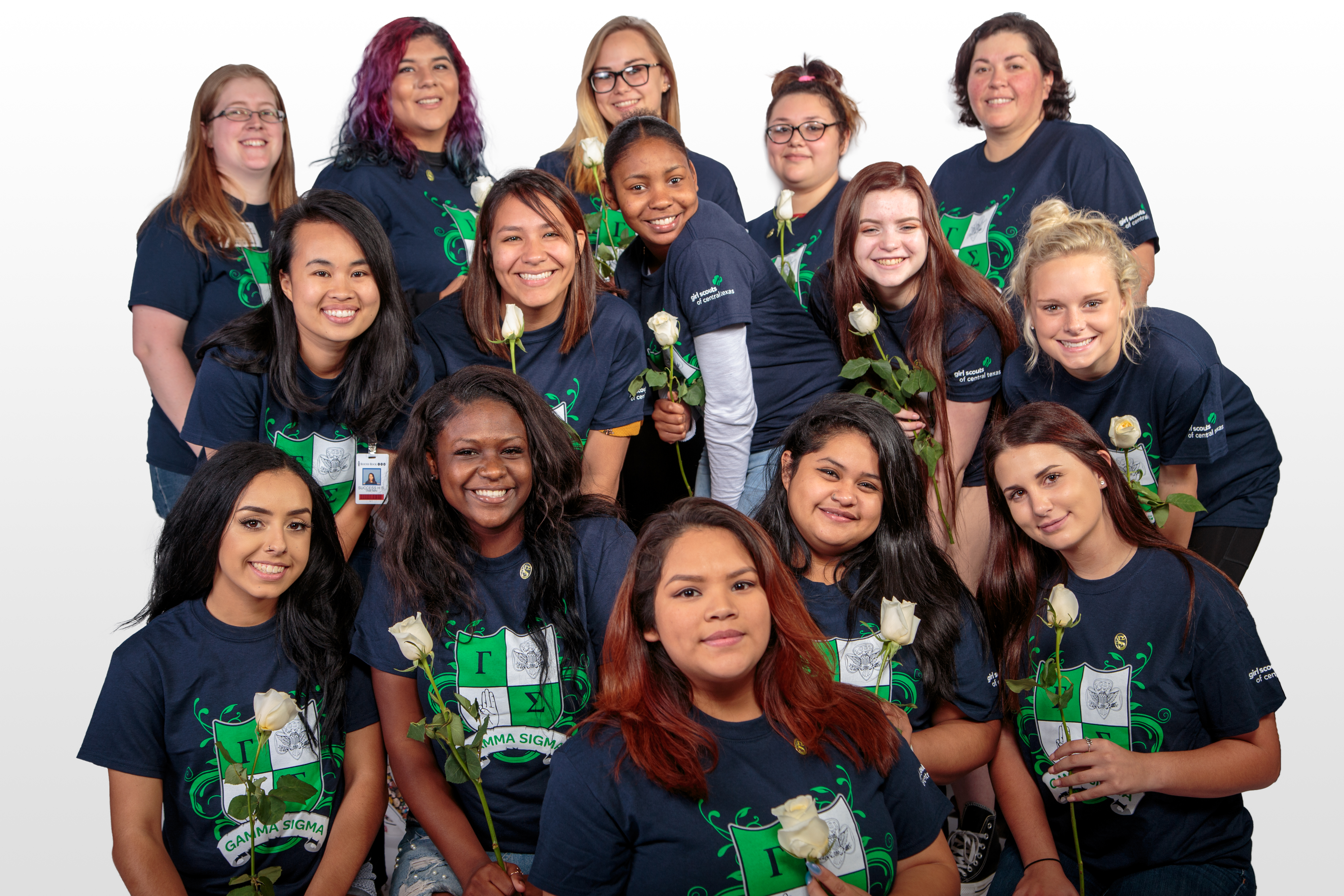 Gamma Girls Initiate Success Students