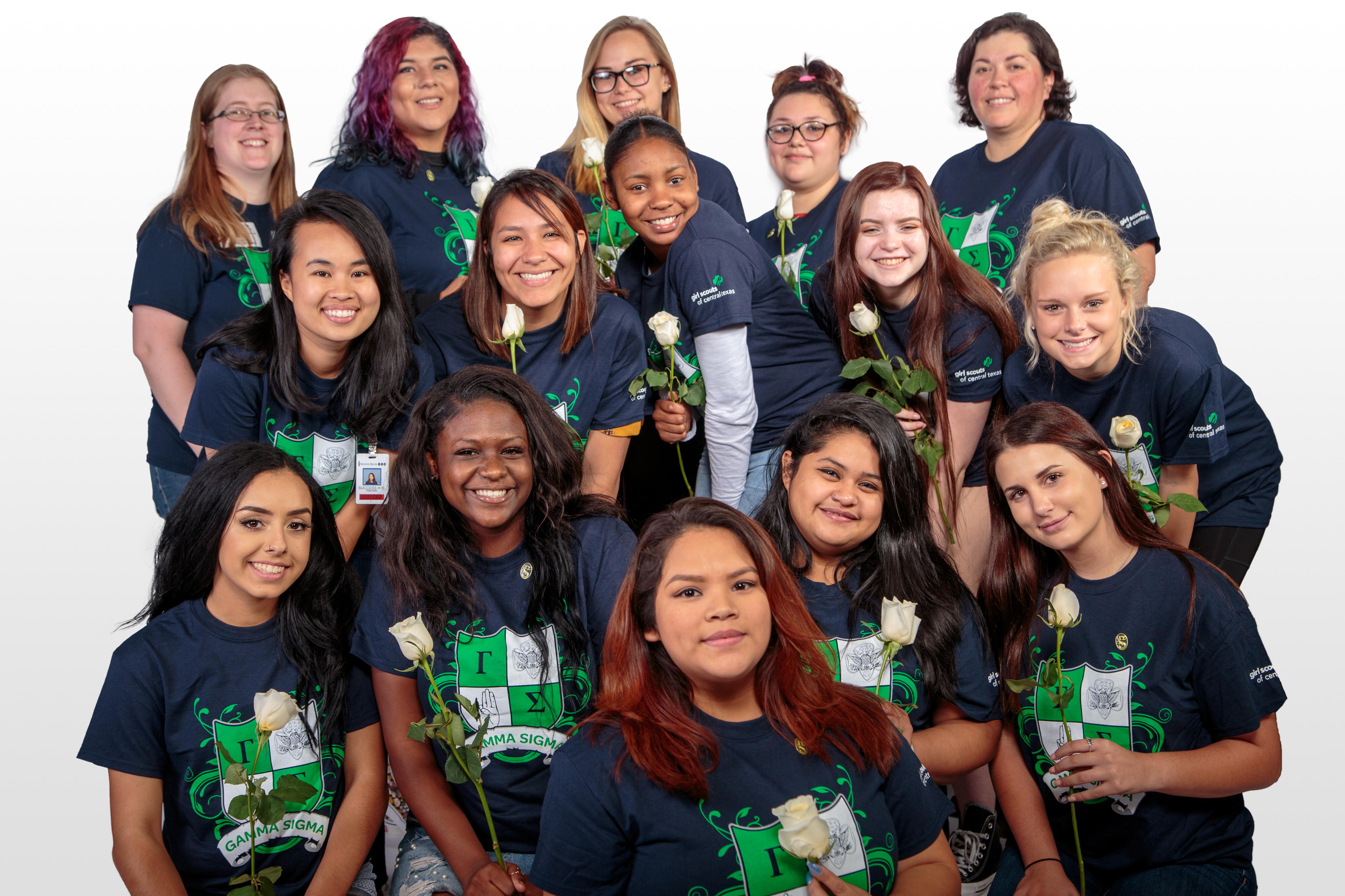 Gamma Girls Initiate Success Students