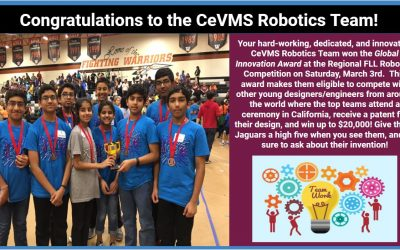 Congratulations to the CeVMS Robotics Team!