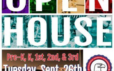 Open House for PK – 3rd Grade