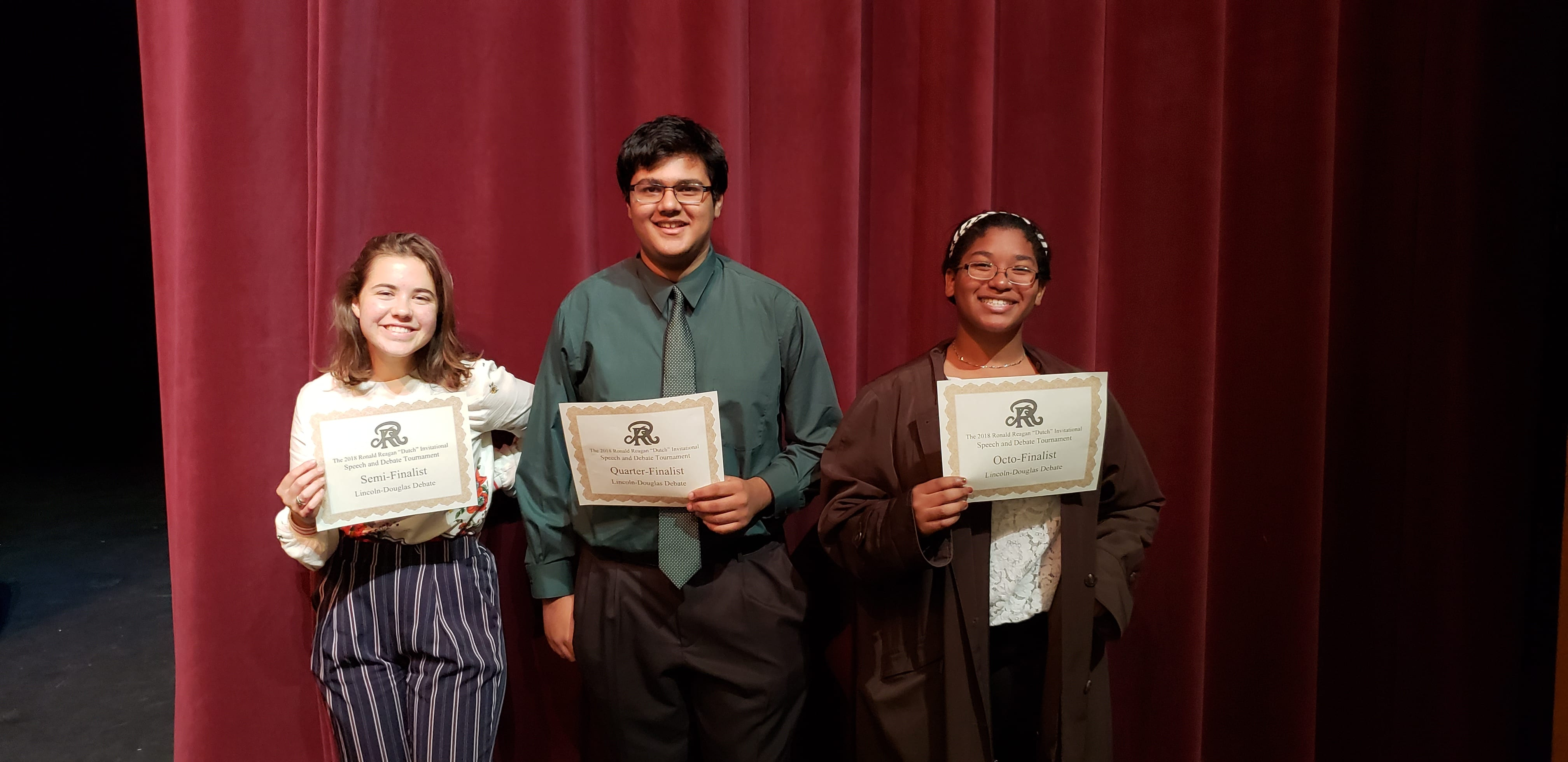 Debate success at Reagan High School