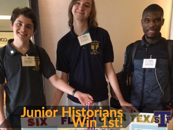 Junior Historians Win 1st!