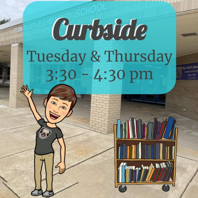 Library Curbside, Tuesday & Thursday, 3:30-4:30pm