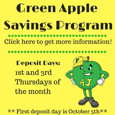 Green Apple Deposit day