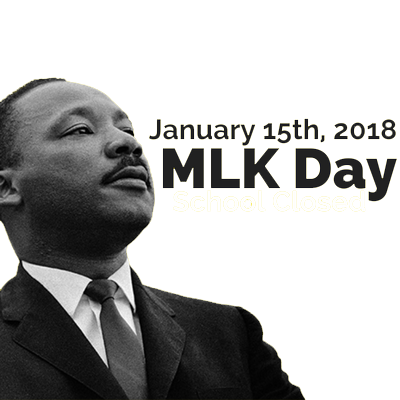 Martin Luther King Jr. Holiday January 15th 2018