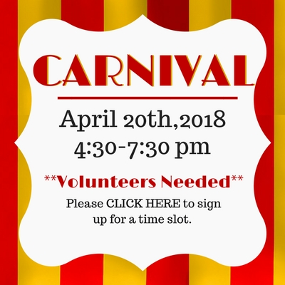 School Carnival April 20th
