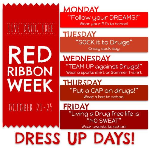 Red Ribbon Week October 21st- 25th