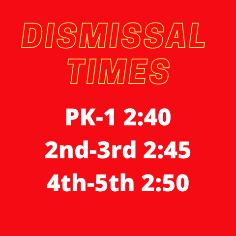 Dismissal Times - times listed
